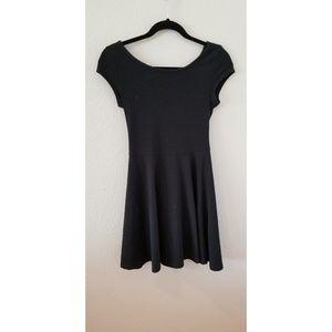 Topshop Black Skater Dress